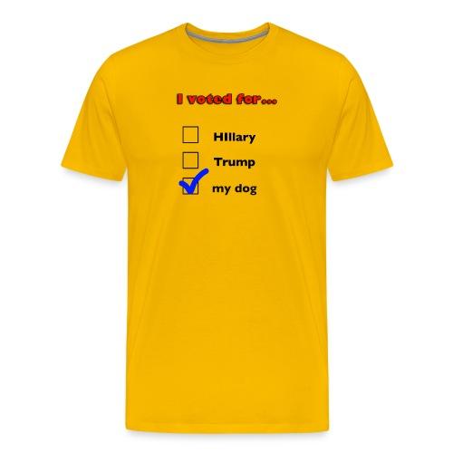 Dog lover political design - Men's Premium T-Shirt