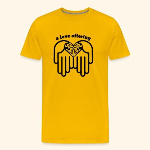 A Love Offering black - Men's Premium T-Shirt