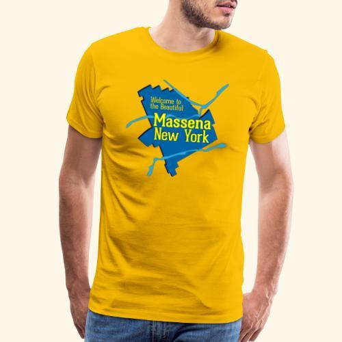 Massena NY Blue - Men's Premium T-Shirt