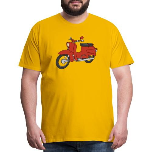 Schwalbe, ibiza-red scooter from GDR - Men's Premium T-Shirt