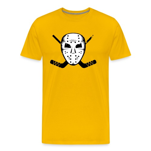 HOCKEY MASK STICKS ICE SKATE WINTER SPORTS FAN - Men's Premium T-Shirt