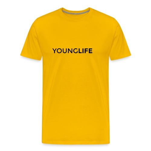 Young Life logo (text)(black) - Men's Premium T-Shirt