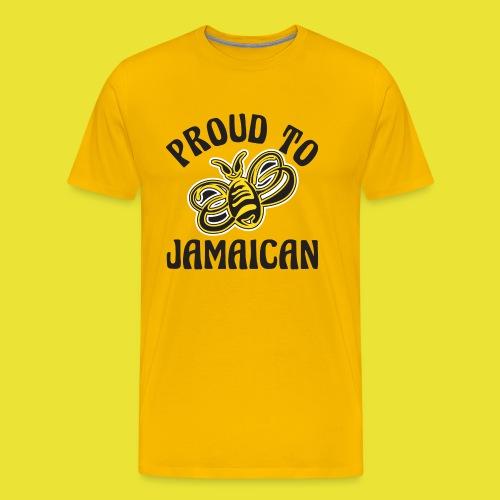 Proud To Bee Jamaican B - Men's Premium T-Shirt