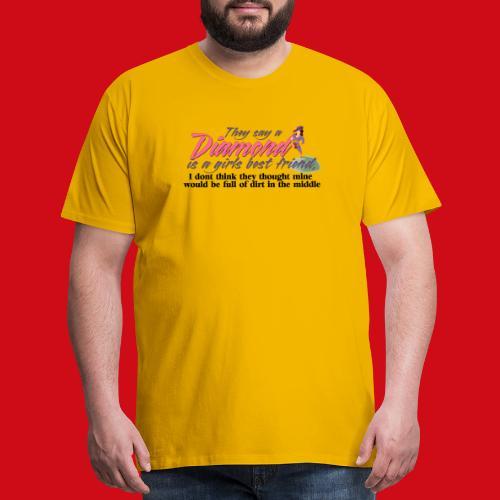 Softball Diamond is a girls Best Friend - Men's Premium T-Shirt