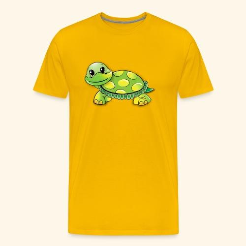 Green turtle cartoon - Men's Premium T-Shirt