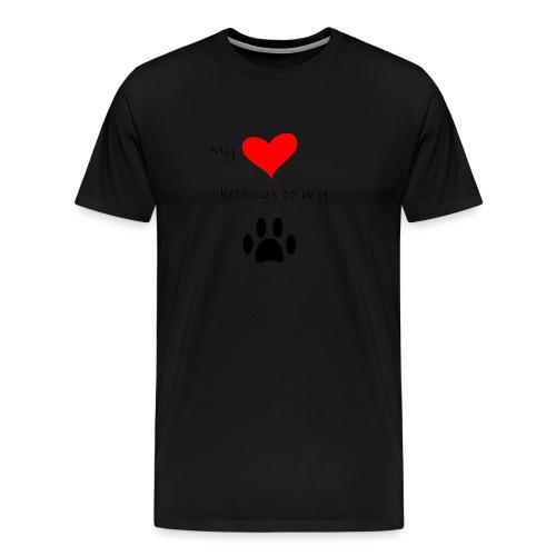 Dog Lovers shirt - My Heart Belongs to my Dog - Men's Premium T-Shirt