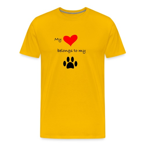 Dog Lovers shirt - My Heart Belongs to my Dog - Men's Premium T-Shirt