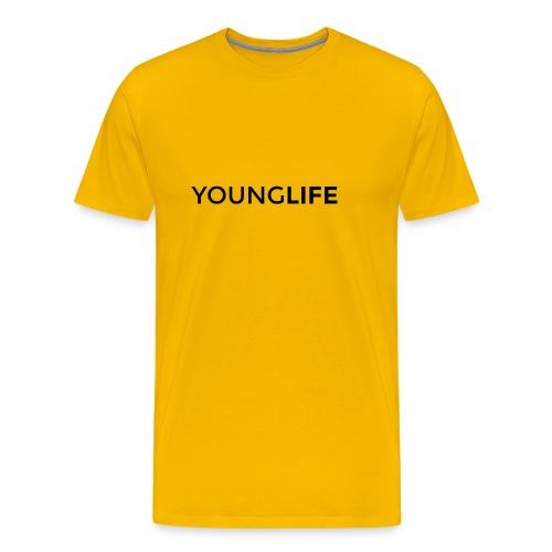 Young Life logo (text)(black) - Men's Premium T-Shirt