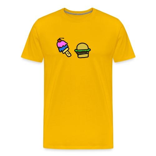 Ice Cream and cheeseburgers - Men's Premium T-Shirt