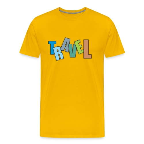 Travel text colorful - Men's Premium T-Shirt