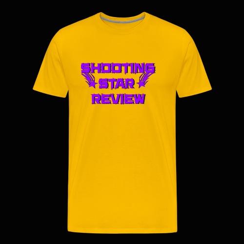 Shooting Star Review Purple Logo - Men's Premium T-Shirt