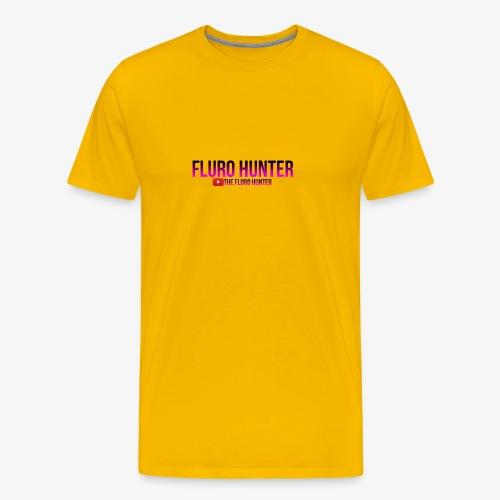 The Fluro Hunter Black And Purple Gradient - Men's Premium T-Shirt