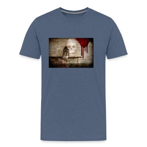 sad girl - Men's Premium T-Shirt
