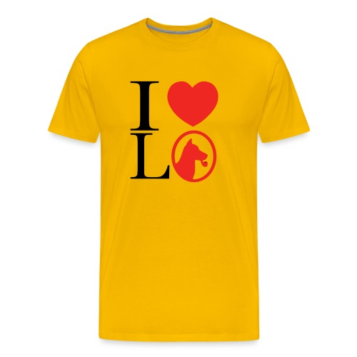 I heart L O - Men's Premium T-Shirt