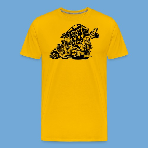 White's Pit Stop - Black - Men's Premium T-Shirt
