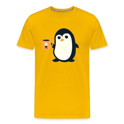 Cute Penguin Coffee - Men's Premium T-Shirt
