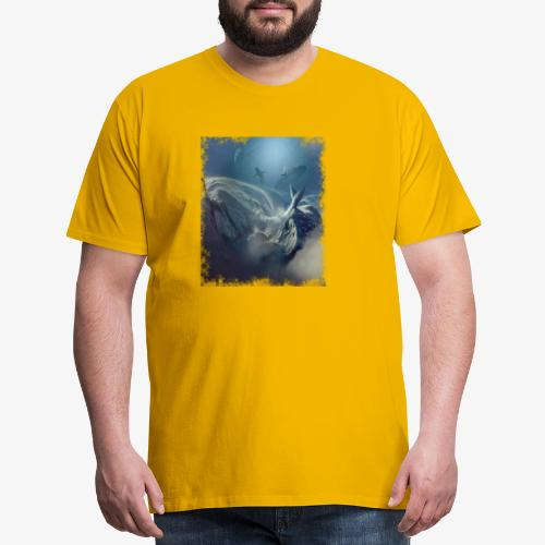 Aqua wave art - Men's Premium T-Shirt
