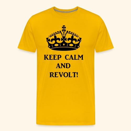 keepcalmrevoltblk - Men's Premium T-Shirt
