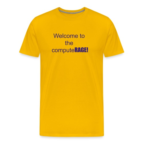 welcome to the computer age - Men's Premium T-Shirt