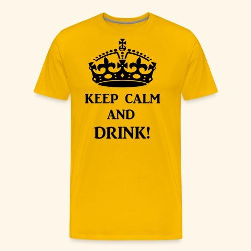 keep calm drink blk - Men's Premium T-Shirt