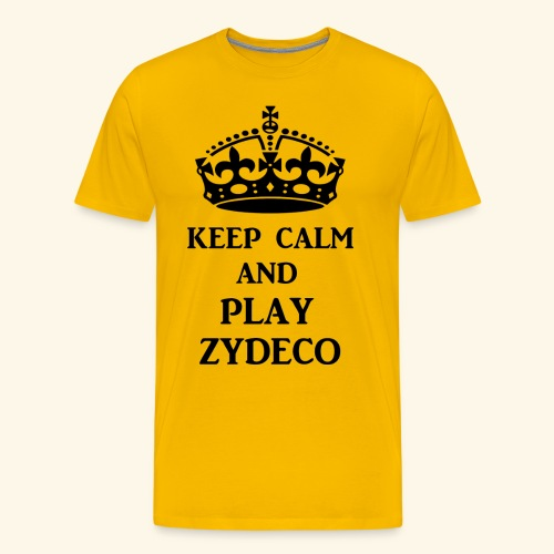 keep calm play zydeco blk - Men's Premium T-Shirt