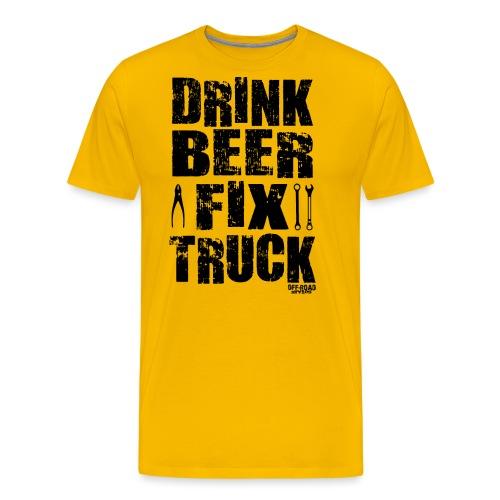 DRINK BEER FIX TRUCK - Men's Premium T-Shirt