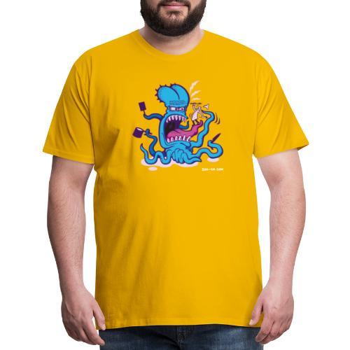 Powder blue Extreme Cooking Long Sleeve Shirts - Men's Premium T-Shirt