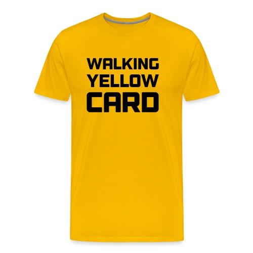 Walking Yellow Card Women's Tee - Men's Premium T-Shirt