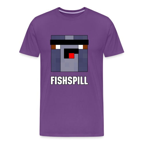 BootlegFishspillEmblemTex - Men's Premium T-Shirt