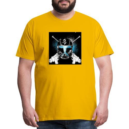 masked guns - Men's Premium T-Shirt