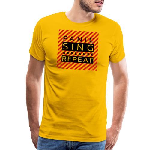 Panic — Sing — Applause — Repeat (duotone) - Men's Premium T-Shirt