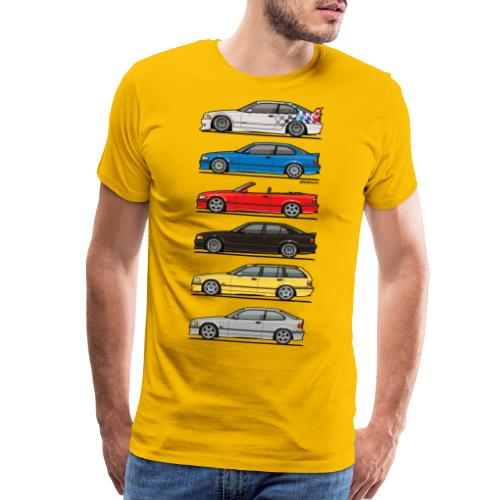 Stack of E36 Variants - Men's Premium T-Shirt