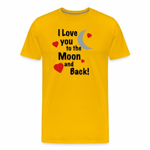 I Love You to the Moon and Back - Men's Premium T-Shirt
