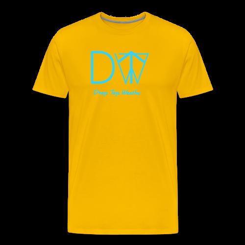 Drop Top Weatha logo Carolina Blue - Men's Premium T-Shirt