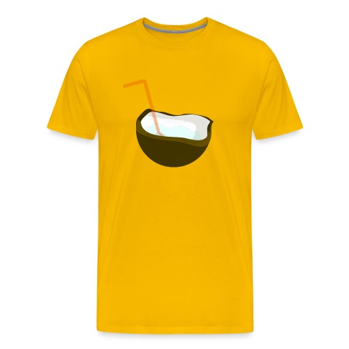 coconut water - Men's Premium T-Shirt