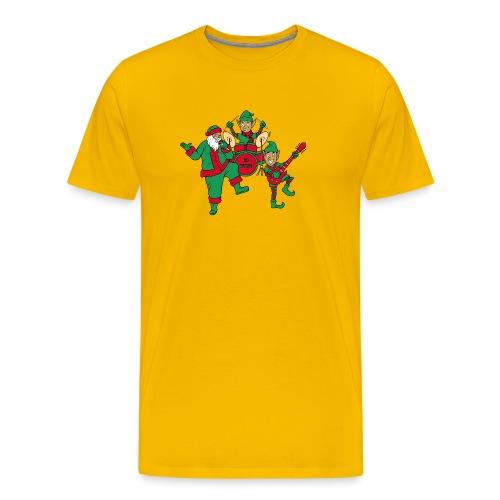 santa elves band w/ CD Music drums - Men's Premium T-Shirt