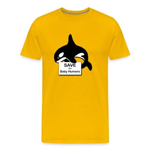Save the Baby Humans - Men's Premium T-Shirt
