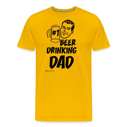 #1 Beer Drinking Dad - Men's Premium T-Shirt