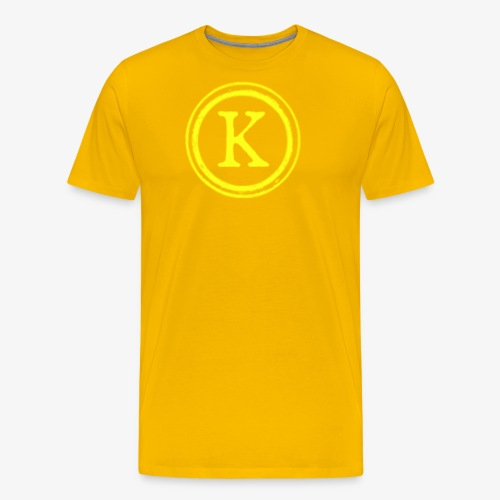 1000x1000 yellow logo - Men's Premium T-Shirt