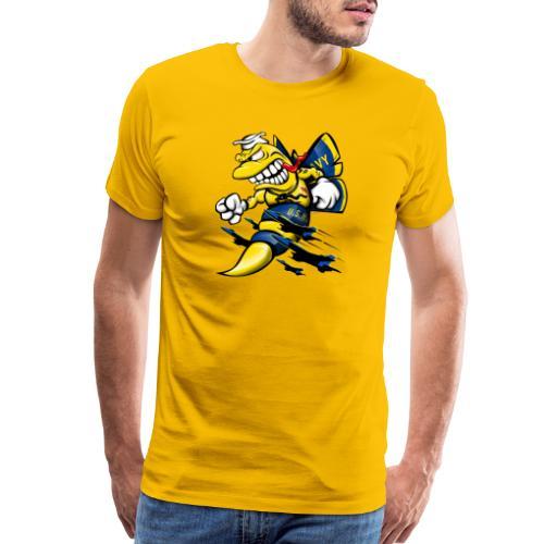 Cartoon Blue Angels F/A-18 Hornet - Men's Premium T-Shirt