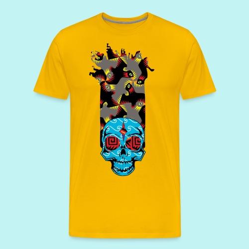 90s KID SKULLY - Men's Premium T-Shirt