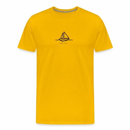Proverbs 3:5-6 logo black - Men's Premium T-Shirt