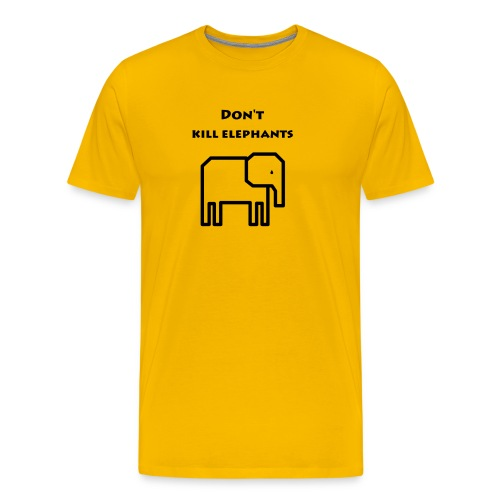 Don't kill elephants - Men's Premium T-Shirt