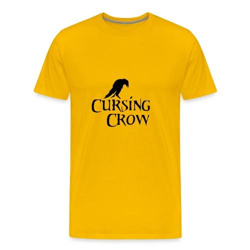 Cursing Crow Logo - Men's Premium T-Shirt
