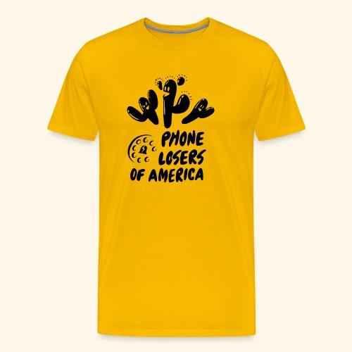 Yati M's Phone Losers Black Logo 2 - Men's Premium T-Shirt