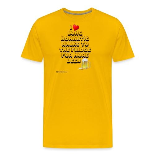 I Love Romantic Walks To The Fridge - Men's Premium T-Shirt