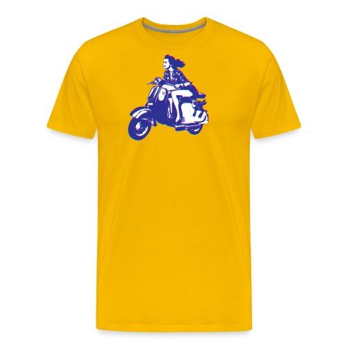 Cute Vespa Scooter Girl - Men's Premium T-Shirt