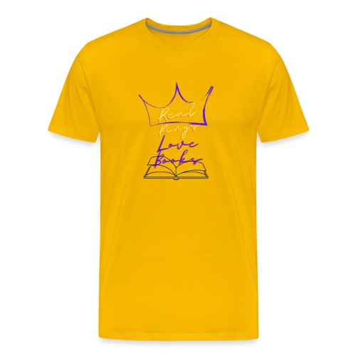 Real Kings Love Books - Men's Premium T-Shirt