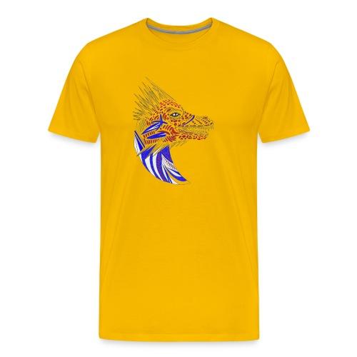 Blue dragon head - Men's Premium T-Shirt