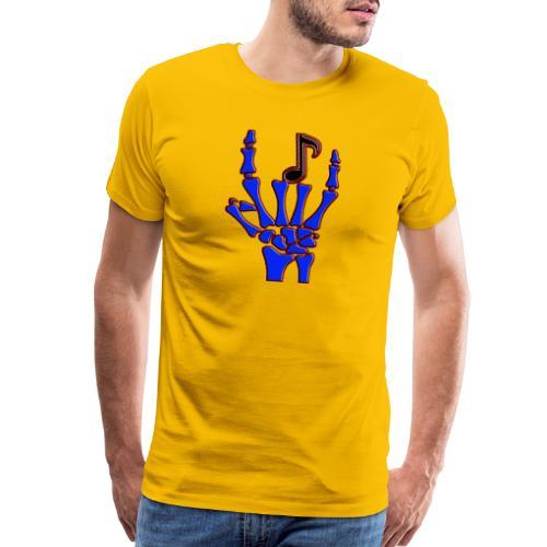 Rock on hand sign the devil's horns - Men's Premium T-Shirt